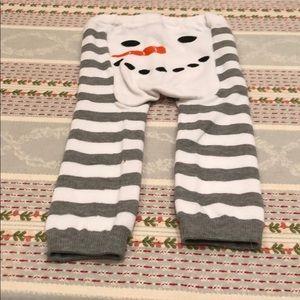 Doodle Pants Snowman Striped Legging
